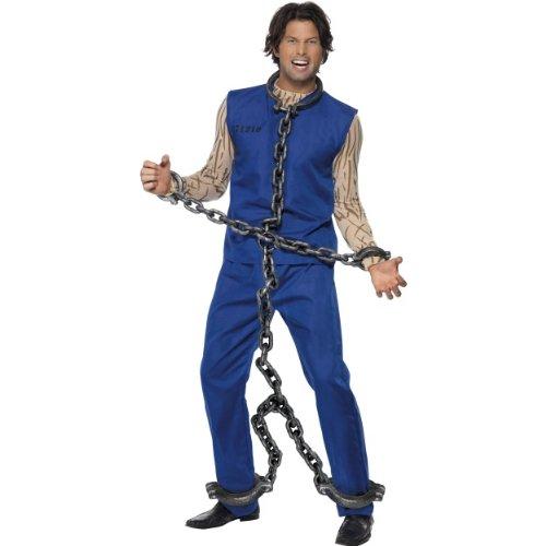 Smiffys Halloween Kostüm Zubehör Gefangenen Fesseln Ganzkörper Kette 180cm
