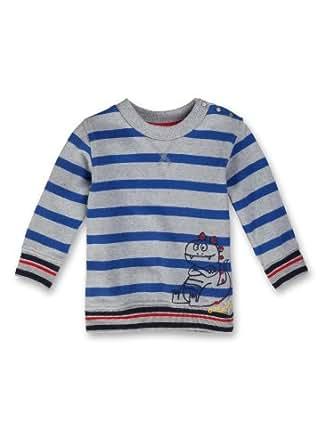 Sanetta Baby - Jungen Sweatshirt, gestreift 123547, Gr. 92, Grau (1703)