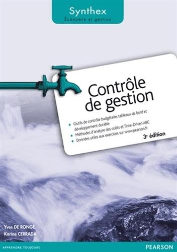 Contrôle de Gestion 3e édition Synthex par Yves De Rongé