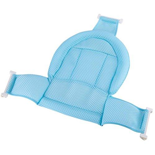 NWYJR Baby Badesitz Stütznetz Badewanne Sling Dusche Mesh Bad Massage Dreieckige Anti-Rutsch-Bad-Netz,Blue