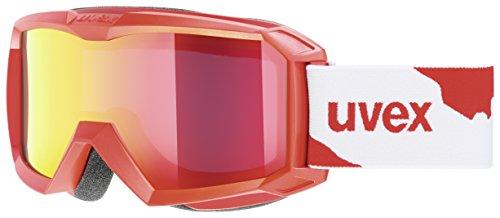 Uvex Kinder Flizz LM Skibrille, Red Mat, S