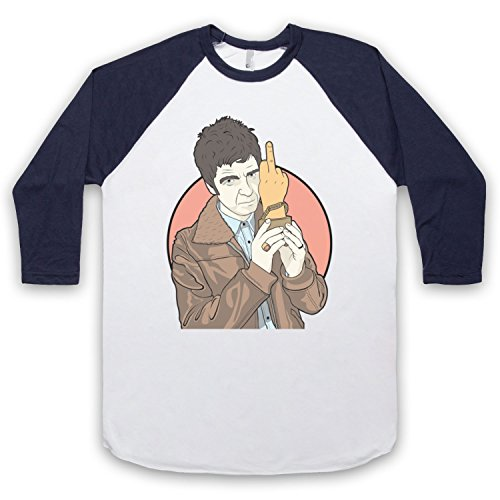 Paramore Hard Times 3/4 Hulse Retro Baseball T-Shirt Weis & Ultramarinblau