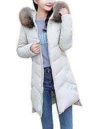 FELZ Moda Abrigos Mujer Invierno Abrigo Grueso de algodón con Capucha Elegantes Slim sólido Abajo Chaqueta