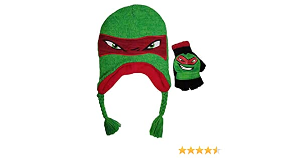 Nickelodeon Boys Teenage Mutant Ninja Turtles Rafael Acrylic Laplander and Glove Set