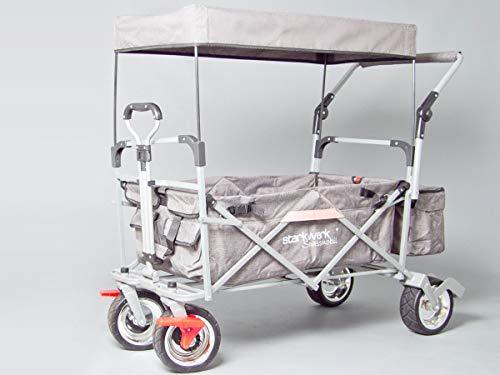Starkwerk faltbarer Bollerwagen Handwagen Transportkarren Strandwagen SW 750 Grau