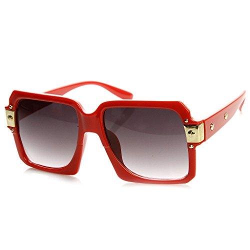 Kiss Sonnenbrille OLD SCHOOL mod. SPECIAL - mann frau HIP-HOP vintage rapper COOL - ROT