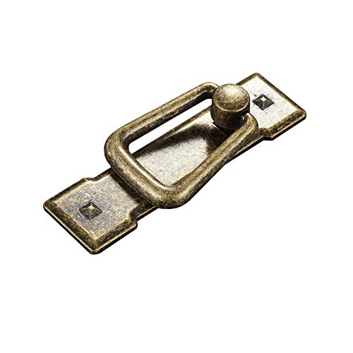 Liergou Schrank zieht 4 stücke Vintage Antike Bronze/Schwarz Schubladenring Türgriffe, schranktür Bin Schrank Möbel Drop Ring Zieht Griff Dekoration (Farbe : Antique Bronze, Größe : Einheitsgröße) - Möbel-drop Zieht