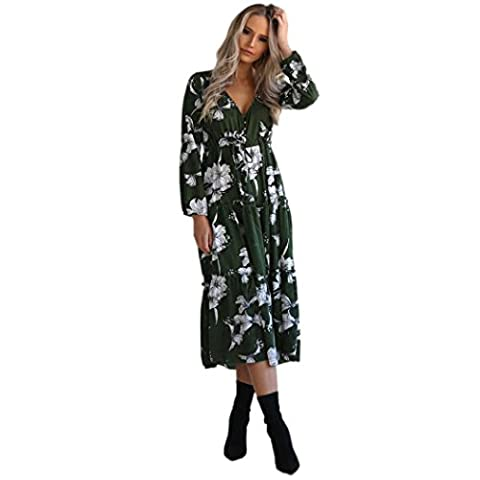 MORCHAN Femmes Sexy V Cou Floral Occasionnel Beach Party CRDS