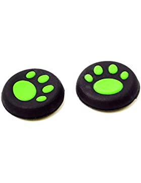 TaylorRoco 1 pair Silicone Cat Paw Joystick The Key Protective Cap Cat Paw Cap Green, [Importado de UK]