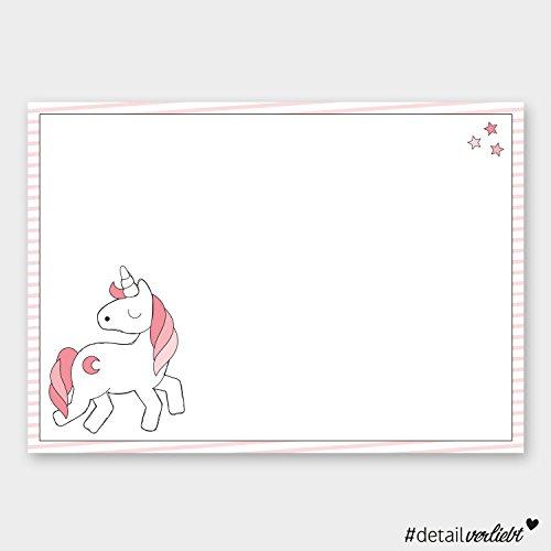 Preisvergleich Produktbild Detailverliebt! DIN A3 Schreibtischunterlage mit süßem Einhorn-Motiv, 40 Blatt, dv_016 – Für alle großen und kleinen Mädchen, die Einhörner lieben