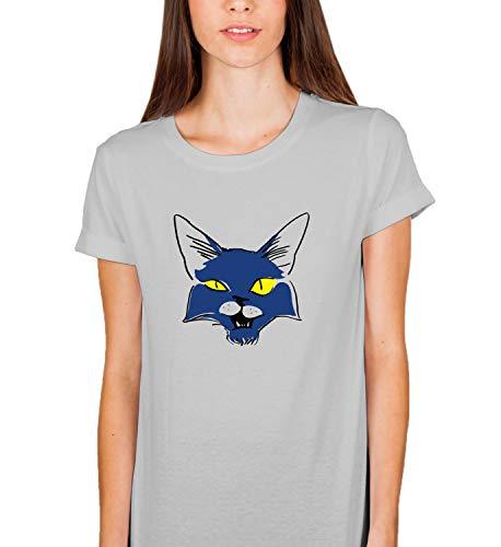 LumaShirts Halloween Black Magic Cat 007356 Tshirt T Shirt Women s Ladies  Present For Her SM Grey T 27609f2bedb