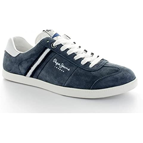 Basket Pepe Jeans PMS30209 Suede balonmano, color azul