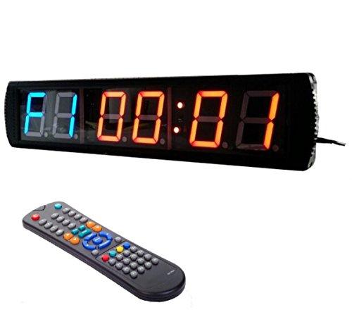 btbsign Workout MMA Tabata Home Gym Timer großes LED Countdown Uhr (Clock Tabata)