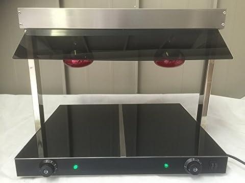 Base En Céramique Chauffe Plat, Deux Lampe Carvery Buffet Écran