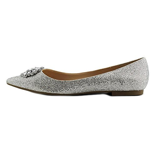 Nina Kouture Synthétique Chaussure Plate Silver Glitter