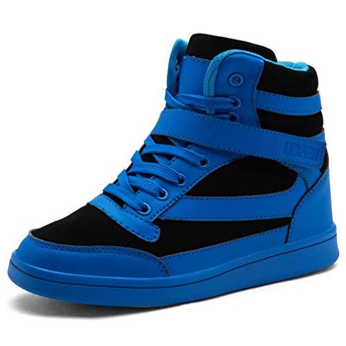 Ubfen scarpe da donna stivali tacco interna alte sneakers scarpe con zeppa strappo stealth stivaletti ginnastica sportive polacchine 38 eu blue