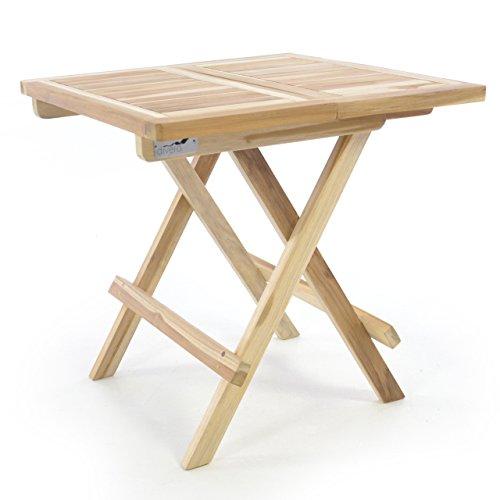 Divero Balkontisch Gartentisch Tisch Beistelltisch Unbehandeltes