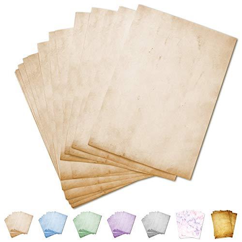 Partycards Papel de Escribir | 50 Hojas |Mármol Beige|Formato DIN A4 (21,0 x 29,7 cm)|Gramaje 90 g/m² |impresión a Doble Cara, Adecuada para Todas Las impresoras