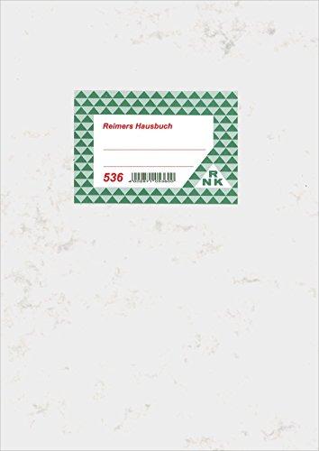 RNK 536 - Hausbuch mit einer Seite für je drei Monate, 12 Seiten, DIN A4
