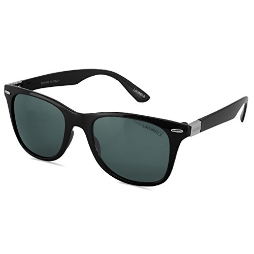 Laurels Donnie UV Protected Wayfarer Unisex Sunglasses (Ls-Dne-020202|50|Black)