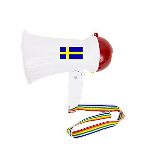 aphone Klein Fan WM Fußball Länder Sound Tröte Lärm Anfeuern Farbe Schweden ()