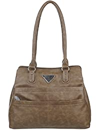 Harvest Synthetic Leather Women's Handbag (Dark Brown, CNK_129)