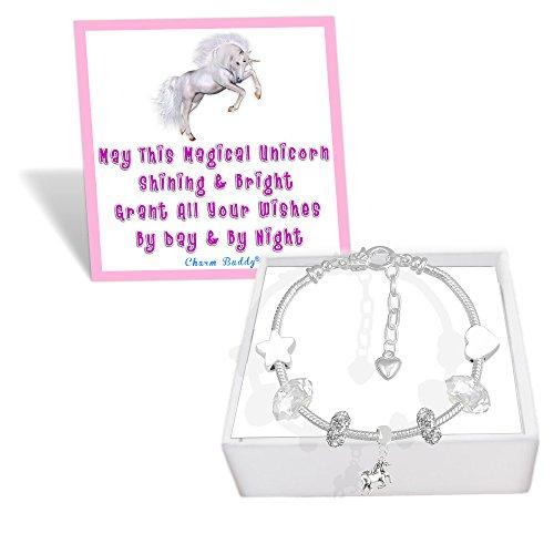 Filles-magique-Licorne-Wish-Bracelet–breloques-avec-bote-cadeau-et-carte-enfants-Bijoux