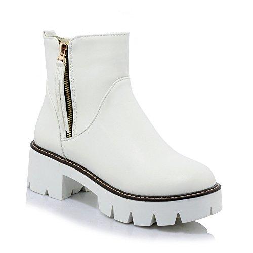balamasa-ladies-chunky-heels-zipper-platform-white-imitated-leather-boots-7-uk