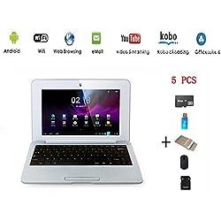 Anitech®Netbook Ordinateur Portable Ultrabook Android 4.2 HDMI(WiFi-SD-MMC),Sac d'ordinateur Portable+Souris +Adapter +Carte SD+Lecteur de Carte(5 PCS Accessoires)