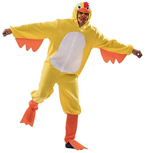 Gelbes Huhn Kostüm für Erwachsene - Pet Huhn Kostüm