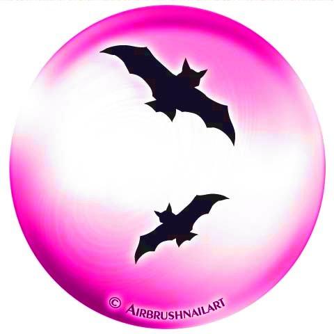 ABLONEN / Lackier-Schablonen, SELBSTKLEBEND: #85-853 HALLOWEEN FLEDERMÄUSE (Halloween-85)
