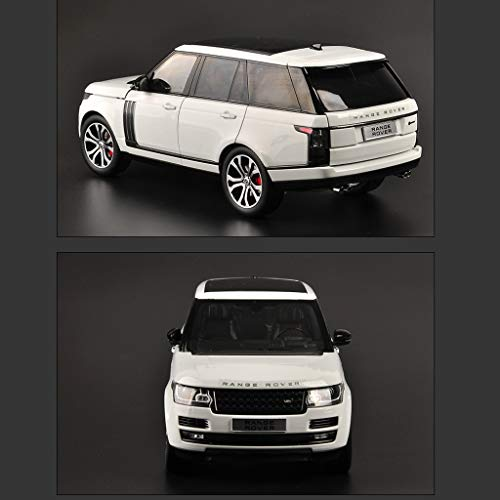 PENGJIE-Model 1:18 2017 Land Rover Range Rover Executive Automodell Range Rover LCD-Modell Legierung Automodell (Farbe : Range Rover LCD White) Lcd-land Rover