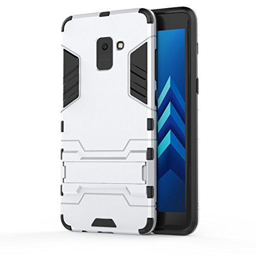 Price comparison product image FLHTZS Case Compatible with Samsung Galaxy A9 (2018) / Galaxy A9 Star Pro / Galaxy A9S Bracket TPU + PC perfect combination simple stylish generous with the fuselage(White)