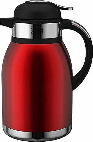 Bama–Tahiti Kaffeemaschinen/Teekanne Thermoskanne Thermos 2L rot (Bama Rolle)
