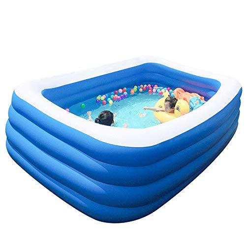 Szblk Aufblasbarer Kinder-Swimmingpool Startseite Übergroße Erwachsenenfamilie Pool Kind Baby Baby Dickes Planschbecken Blau & Weiß (Größe : M)
