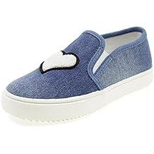 LIU-JO GIRL Scarpe Slip On Jeans LJ Cuore Ragazza L3A400074 Blu 06f1ea0365c