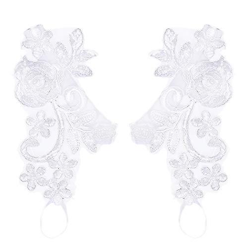 Zoylink 1 paio cinturino in pizzo da sposa sandali a piedi nudi gioielli decorativi a forma di foglia di fiore per le donne