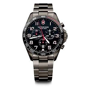 Victorinox Hombre FieldForce Sport Chronograph – Reloj de Acero Inoxidable