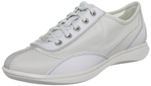 Rockport Yezenia Lace Up, Sneaker Donna bianco (Pure White/Warm Grey)