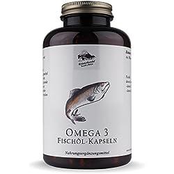 Omega 3 Fischöl Kapseln • 1500mg Fischöl pro Portion • hochwertige Fettsäuren • naturbelassen • 400 Kapseln (4 Monatsvorrat) • Deutsche Premium Qualität • Kräuterhandel Sankt Anton
