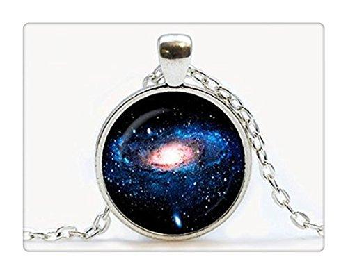 Anhänger. Galaxy Halskette. Space, Universe Schmuck, Geburtstag Geschenk (Lünette Mit Kuppel)