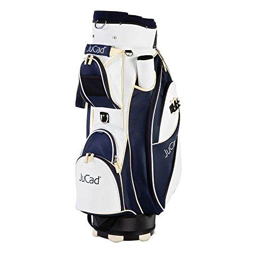 JuCad Bag Style (Nylon/Lederoptik) Farbe: weiß-blau-beige