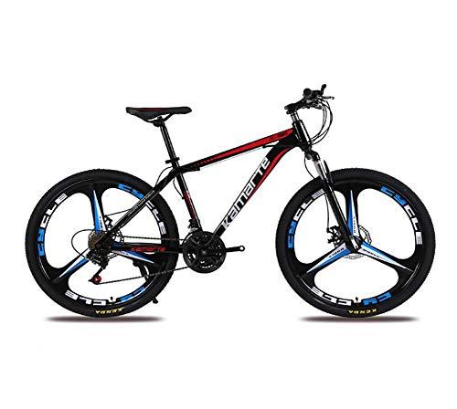 QWE Bicicletta Full Suspension 27 Speed   Mountain Bike 26'Set Bici da Bicicletta Ultra Leggero Nero