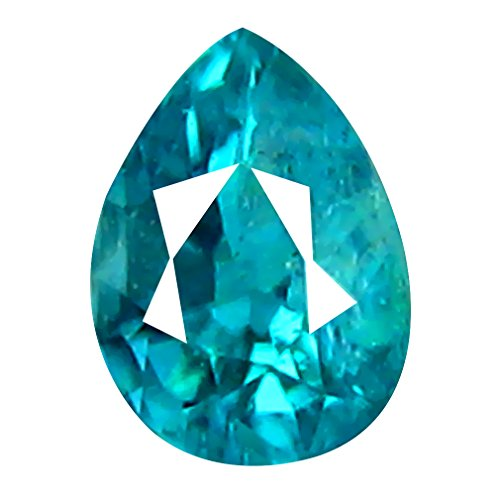 Deluxe Gems Grandidierit Lose Edelstein 0.11 ct AAA+ Grade VVS Clarity Unheated/Untreated Pear Cut (4 x 3 mm) Greenish Blue GRANDIDIERITE Gemstone