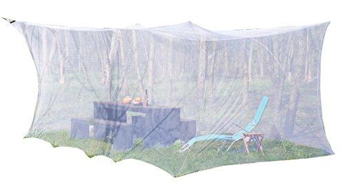 infactory Mückennetz: XXL-Moskitonetz für Innen & Außen, 300 x 500 x 250 cm, 220 Mesh, weiß (Moskitonetz Boxen für Außen und Innen)