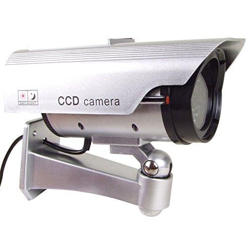 Überwachungskamera Attrappe mit LED und Solar