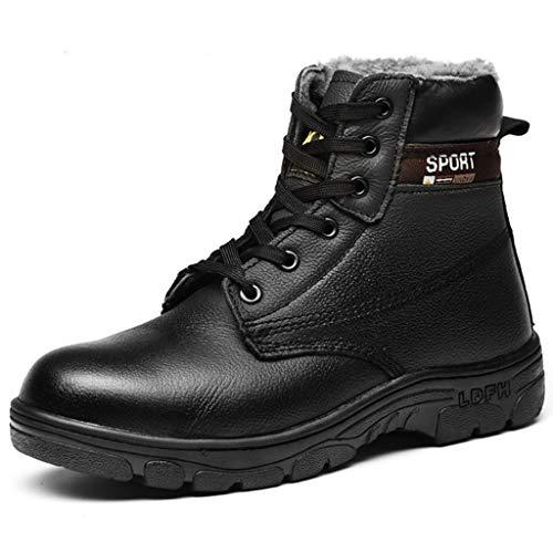 Watopi Herren Platform Boots Anti-Smashing Piercing Stiefeletten Sicherheit Arbeitsschuhe Warm Ankle Short Boots