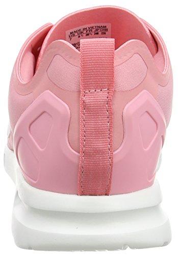 adidas Originals Zx Flux Smooth, Baskets Basses femme Rose - Pink (Super Pop F15/Core White/Core Black)