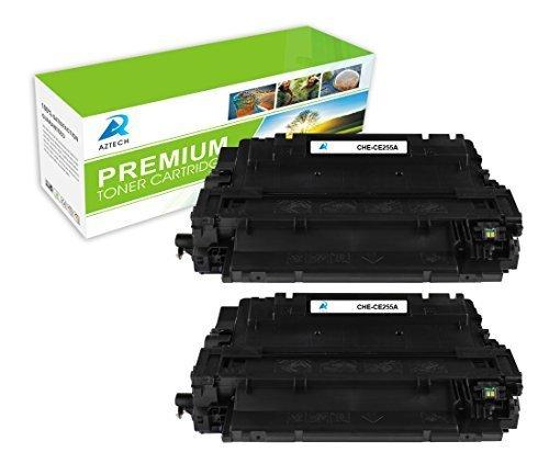 Preisvergleich Produktbild Aztech 2 Pack ersetzt CE255A 55A Tonerkartuschen 6000 Seiten für HP LaserJet P3011, HP LaserJet Enterprise P3015D P3015DN P3015X P3016, LaserJet Enterprise 500 MFP M525F MFP M525dn, LaserJet Enterprise flow MFP M525