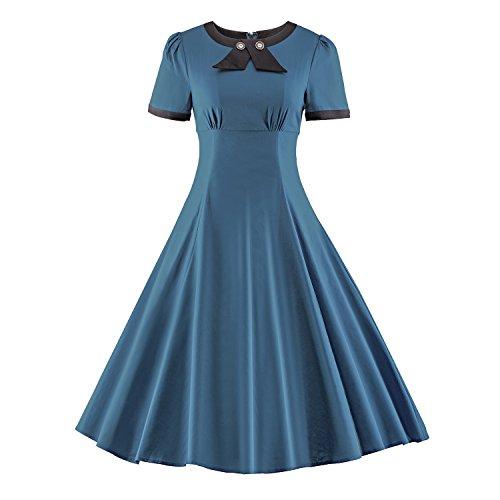 Jahre Kostüme 40er Tanz (iLover Klassische 40er 50er 60er Jahrgang Rockabilly Hepburn Stil Partei)
